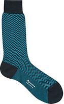 Aquascutum Hatton Herringbone Merino-blend Socks