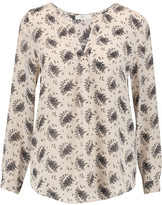 Joie Deon B Tossed Bouquet Printed Washed-Silk Blouse