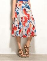 dressbarn WESTPORT Petite Crinkle Floral Midi Skirt