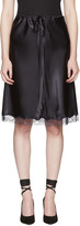 Nina Ricci Black Lace Satin Slip Skirt