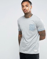 Bellfield T-Shirt with Printed Pocket and Cuff