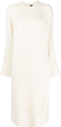 Joseph long-sleeved straight fit dress