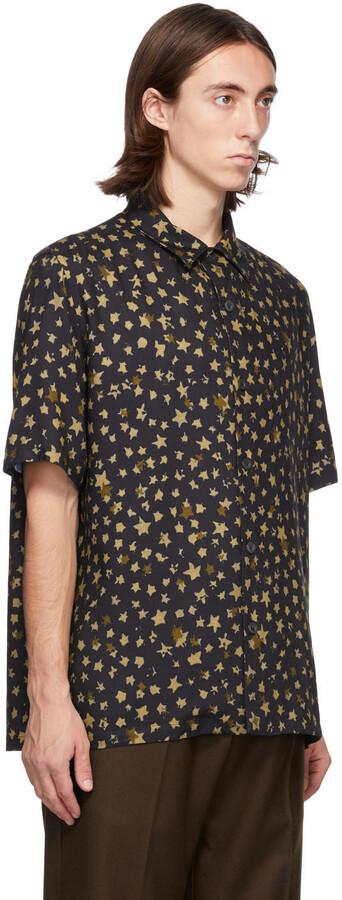 Thumbnail for your product : Davi Paris Black Ciel Etoile Short Sleeve Shirt