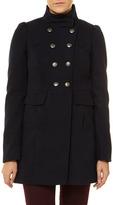 Dorothy Perkins Navy funnel neck coat