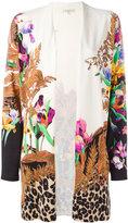 Etro bird print cardigan - women - Silk/Spandex/Elastane - 44