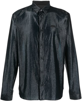 Philipp Plein Metallic Long-Sleeve Shirt