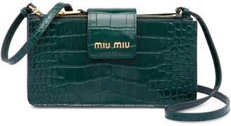 Miu Miu Crocodile-Effect Mini Bag