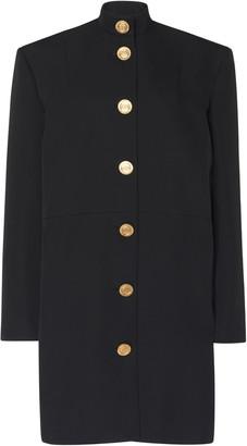 Balenciaga Campaign Button-Detailed Barathea Dress
