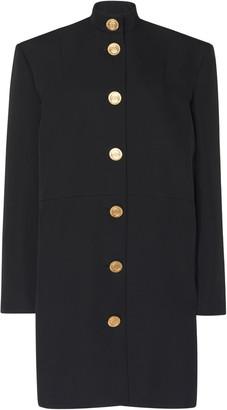 Balenciaga Campaign Button-Detailed Barathea Midi Dress