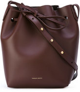 Mansur Gavriel studded strap bucket bag - women - Leather - One Size