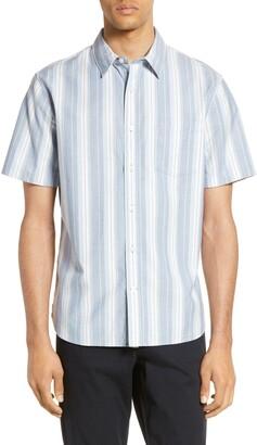 Vince Slim Fit Variegated Stripe Shirt