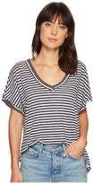 Free People Take Me Tee Stripe Women's T Shirt
