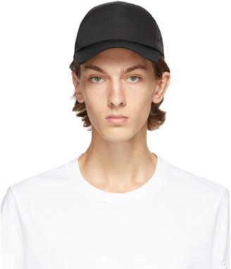 Balmain Black Logo Embossed Cap