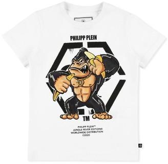 Philipp Plein Junior Jungle Fever King Plein T-Shirt (4-16 Years)