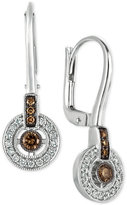 LeVian Le Vian Chocolatier® Diamond Circle Drop Earrings (1/3 ct. t.w.) in 14k White Gold