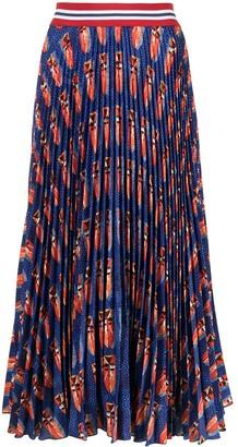 Stella Jean Graphic-Print Pleated Skirt