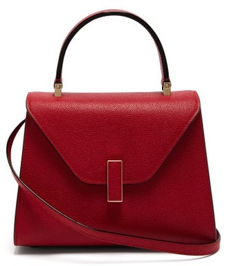 Valextra Iside Mini Grained-leather Bag - Burgundy