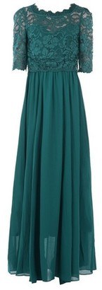 Dorothy Perkins Womens *Jolie Moi Teal Lace Overlay Maxi Dress, Teal