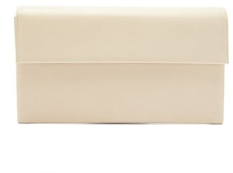 Tsatsas Haze Leather Clutch Bag - Ivory
