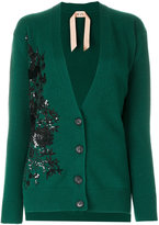 No.21 embellished V-neck cardigan