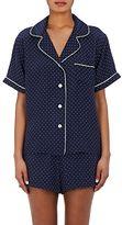 Sleepy Jones Women's Corita Star-Print Silk Pajama Shirt