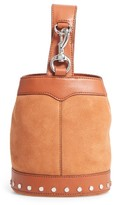 Rebecca Minkoff Mini Mission Leather Bucket Bag - Brown