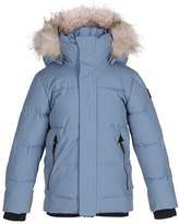 Molo Herbert Hooded Puffer Jacket w/ Faux-Fur Trim, Size 4-12