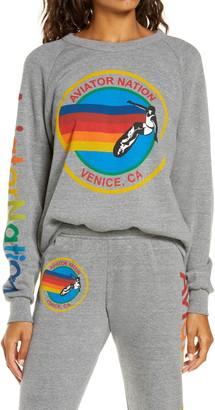 Aviator Nation AV Graphic Crewneck Sweatshirt