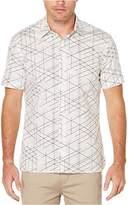 Perry Ellis Men's Short Sleeve Graphic Linear Print Shirt