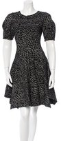 Alaia Patterned Fit and Flare Dress w/ Tags