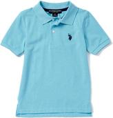U.S. Polo Assn. Capri Heather Horse Emblem Polo - Toddler & Boys