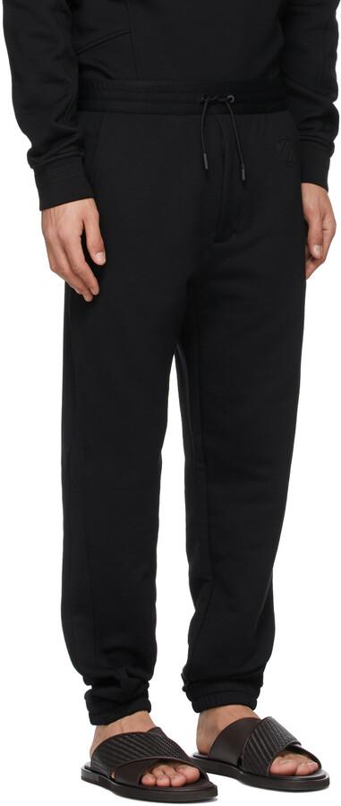 Thumbnail for your product : Ermenegildo Zegna Couture Black Logo Lounge Pants