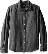 HUF Men's Course Long Sleeve Chambray Shirt