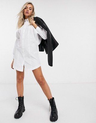 Topshop shirt dress in white