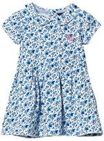 Gant White and Blue Floral Jersey Dress