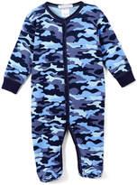 Baby Steps Dark Blue Camo Footie Pajama - Infant