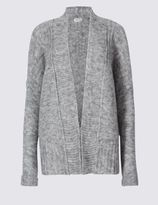 Marks and Spencer Long Sleeve Cardigan with Wool
