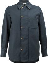 Thom Browne off-centre buttoned shirt - men - Cotton - 3
