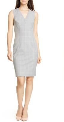 Ted Baker Avriild Check V-Neck Sheath Dress