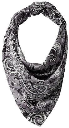 RAGS M&F Western 33x33 Wild Silk Paisley Scarf Bandana (Black) Scarves