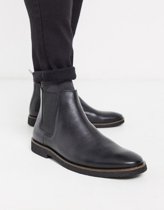 Walk London hornchurch chelsea boots in black leather