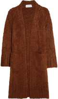 Chloé Chunky-knit Mohair, Wool And Cashmere-blend Cardigan - Brick