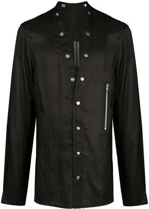 Rick Owens Zip Detail Snap Button Shirt