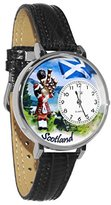 Whimsical Watches Women's U1420003 Unisex Silver Scotland Black Skin Leather And Silvertone Watch