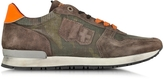 D'Acquasparta D'Acquasparta Botticelli Camouflage Brown Suede and Fabric Men's Sneaker