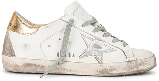 Golden Goose Superstar Sneaker in White, Silver, & Gold | FWRD