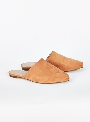 Evans WIDE FIT Brown Point Flat Mules