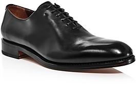 Salvatore Ferragamo Men's Angiolo Burnished Leather Oxfords