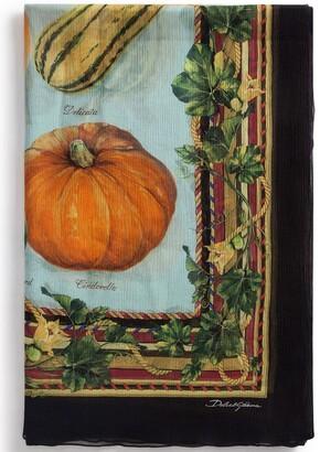 Dolce & Gabbana Pumpkin Print Scarf
