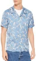 Sandro Palm Slim Fit Button-Down Shirt